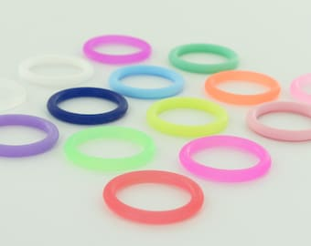 25 O-Rings - Colorful Silicone Dummy / Pacifier Clips Adapters (Choose Color(s)) for Nuk MAM Button Style Pacifiers