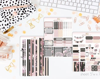 Florist HORIZONTAL Weekly Kit // 130+ Matte Planner Stickers // Perfect for your Erin Condren Life Planner // WKH0990