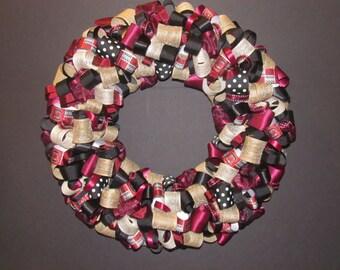 University of South Carolina Burlap and Ribbon Wreath