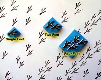 bird tracks stamp, bird feet rubber stamp, bird footprint, animal stamp, stamp for kids, teacher stamp
