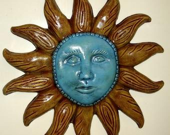 """20"""" Sun Face Wall Plaque"""