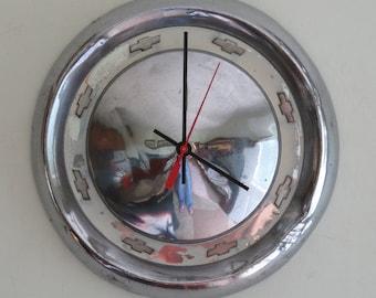 1955 Chevy Hubcap Clock - Item 2627