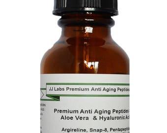 Premium Anti Aging Complex Peptides Serum with Aloe Vera and Hyaluronic Acid