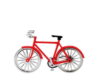 Red Bicycle Cake Topper - a vintage cruiser bike cake topper