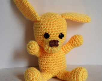 Button the crochet puppy toy