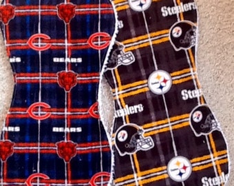 NFL oversized burp cloth sets