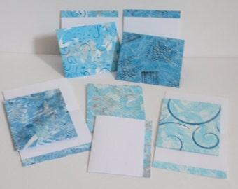 Gelli printed envelopes with matching notecards