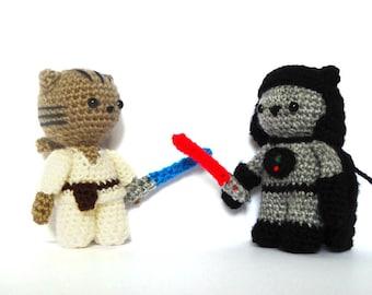 Jedi & Sith Cat Amigurumi Patterns - Star Wars Crochet