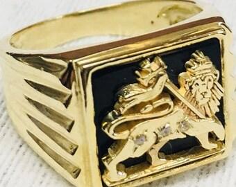 Lion of Judah Gold 14K Ring