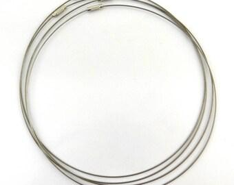 6 necklaces 45 cm neck rigid metal grey clasp ctcr04