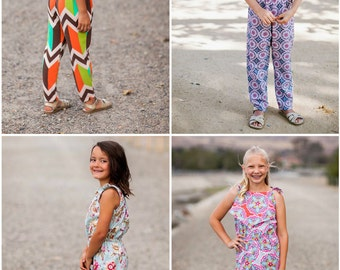 Instant Download- Romper PANTS ONLY (Sizes 9/12 months to 12) PDF Sewing Pattern and Tutorial
