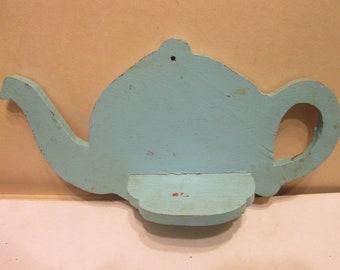 Adorable antique folk art teapot shelf