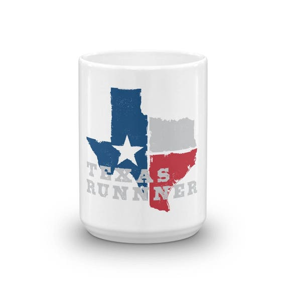 Texas Runner Mug - Run Texas - 11 oz or 15 oz - Coffee Mugs for Runners