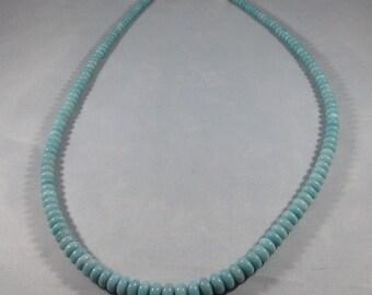 Amazonite Rondelle Beaded Necklace