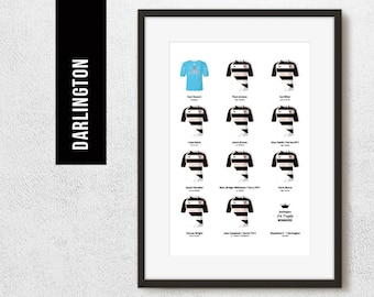 Darlington 2011 FA Trophy Winners Team Print, Football Poster, Football Gift, FREE UK Delivery