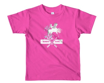 Horse and Girl Kids Tee