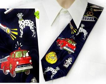 Fireman tie - novelty tie - cool tie - awesome tie - novelty neck wear - men's neck wear - statement tie - collectors tie - # T 31
