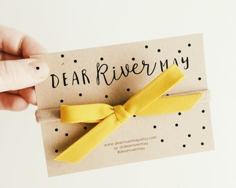 Hand tied bow [ yellow ]