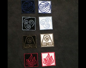 Avatar: the Last Airbender Element Embroidered Patches