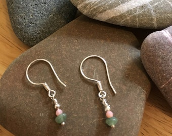Semi-precious gemstone earrings