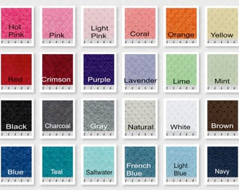 Minky Crib Sheet Several Colors Available