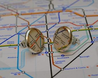 Personalised London Underground Earrings