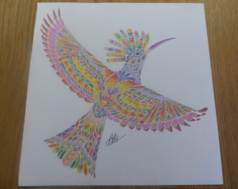 Flight of Fancy coloured by Annie (Millie Marotta)