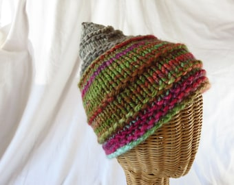 Small Gnomish Hat - Handspun, handknit hat