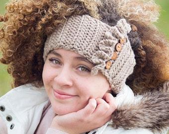 Boho Ear Warmers / Crochet Ear Warmers / Crochet Headband / Ruffle Headband / Headwrap / Fall Fashion / Crochet Ear Warmers / Gifts for Her