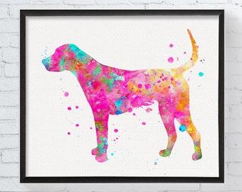 American Foxhound Art, American Foxhound Print, American Foxhound Watercolor, American Foxhound Wall Decor, Dog Lover Gift, Watercolor Art
