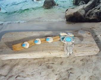 Driftwood, Shell Wand, Crystal Wand, Magic Wand, Goddess Wand
