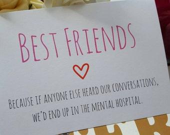 Funny Best Friend Card