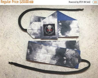 ON SALE Stormy Weather, Clouds,  Wrist Wrap, WOD, Weightlifting, Athletic