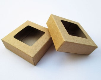 Bulk Small Soap Box, Kraft Soap Packaging, Gift Box, Favor Box Set of 50