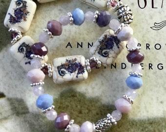 Seahorse double stretch bracelets