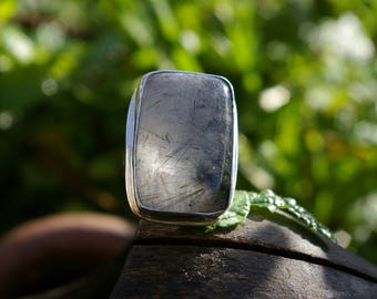 Tourmalated quartz ring size 56 or US 7.5