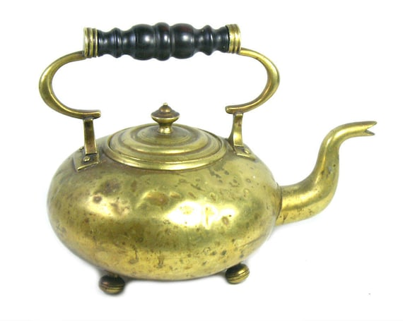 Antique Brass Kettle from the 19th Century