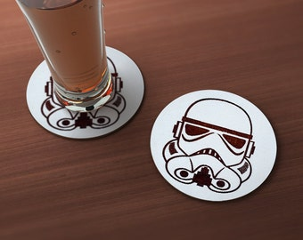 Stormtrooper Geek Drink Coaster