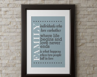 Family wall art, LOVE, quote, modern, can be customized 8x10 INSTANT download