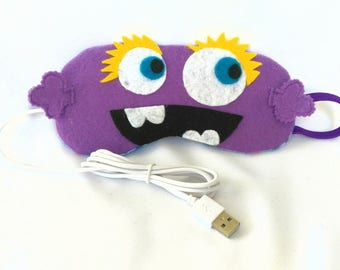 Lavender Fragrant USB Heated Designer Sleeping Eye Mask