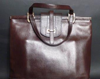 VIMAR - handbag - vintage 80s brown leather