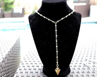 arrowhead lariat necklace