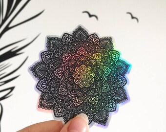 Holographic Mandala Sticker #2