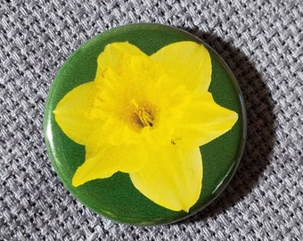 Yellow Daffodil Needle Minder/Magnet/Pin Back Button
