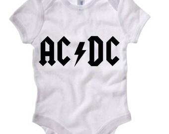 AC/DC Baby Short Sleeve Onesie 100B