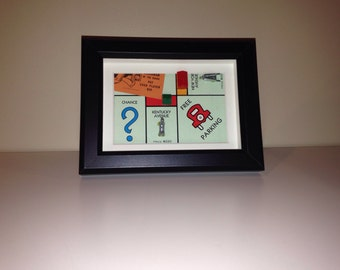 Monopoly Shadowbox Art - Small, Landscape Orientation