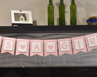 It's a Girl Banner Baby Shower