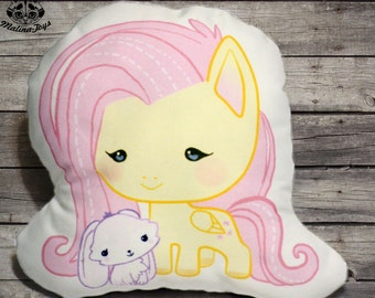 My little pony pillow,Decorative Pillow,Fluttershy pillow,Stuffed  pony,Animal Pillow,Gifts For Kids,  Soft Toy