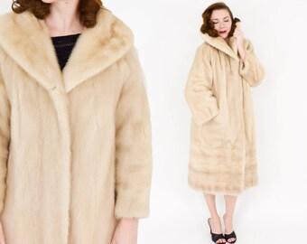 60s Blush Mink Long Coat | Parchment Furriers | Large