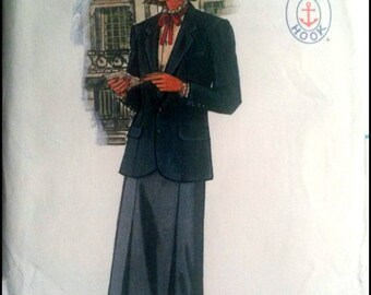"Butterick 6828  Misses' Jacket, Skirt And Blouse  Size 10  Bust 32.5""  UNCUT"